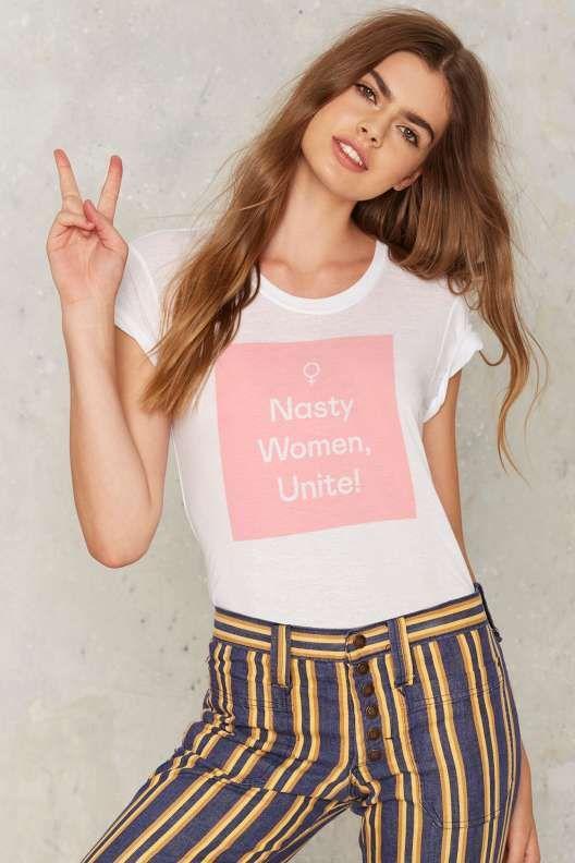 5293b475 Nasty Gal Nasty Women Unite Tee | Outfit Inspo | Outerwear women, T ...