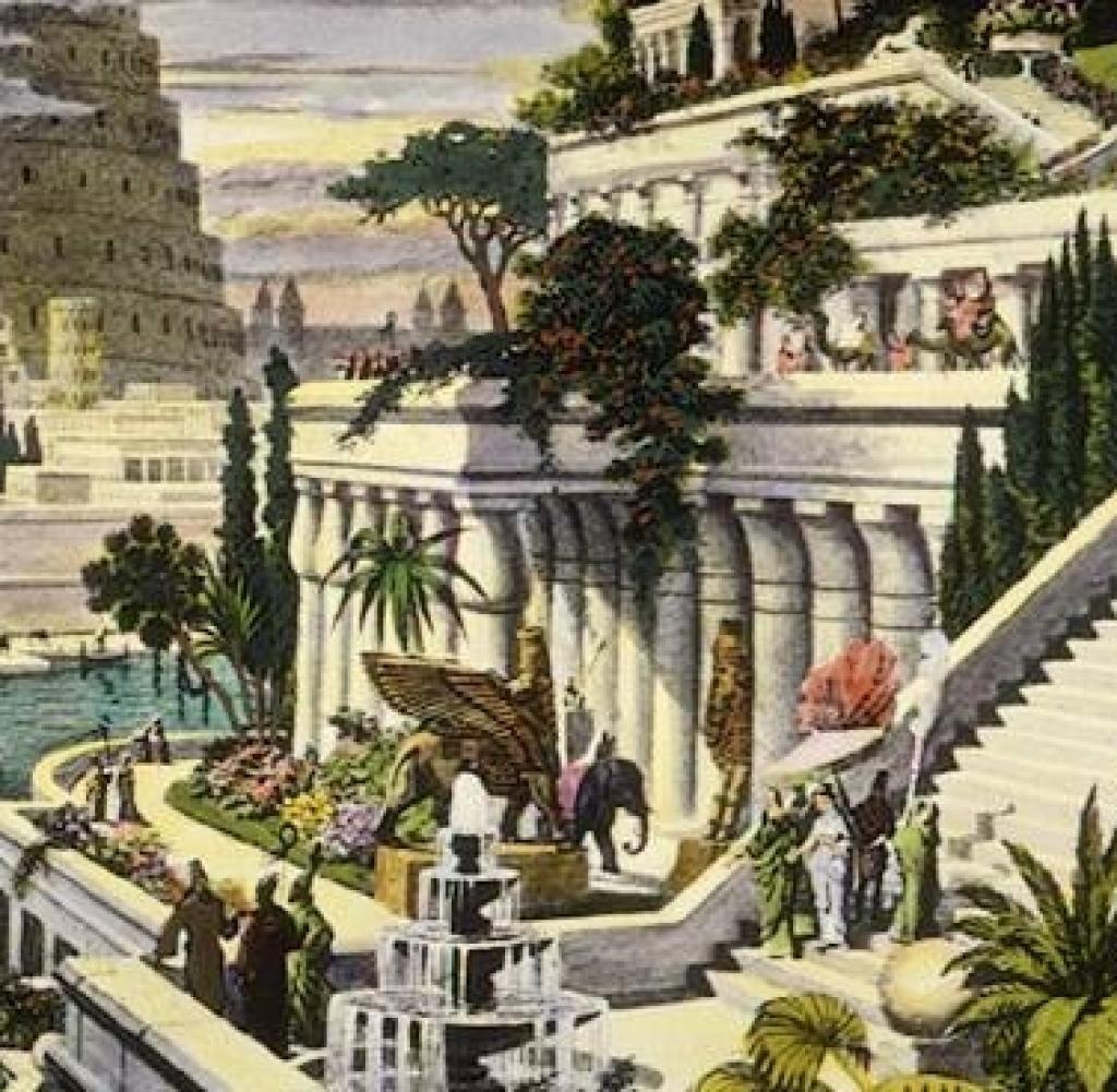Babylon Jpg 1024 1001 Turm Von Babylon Hangende Garten Von Babylon Weltwunder