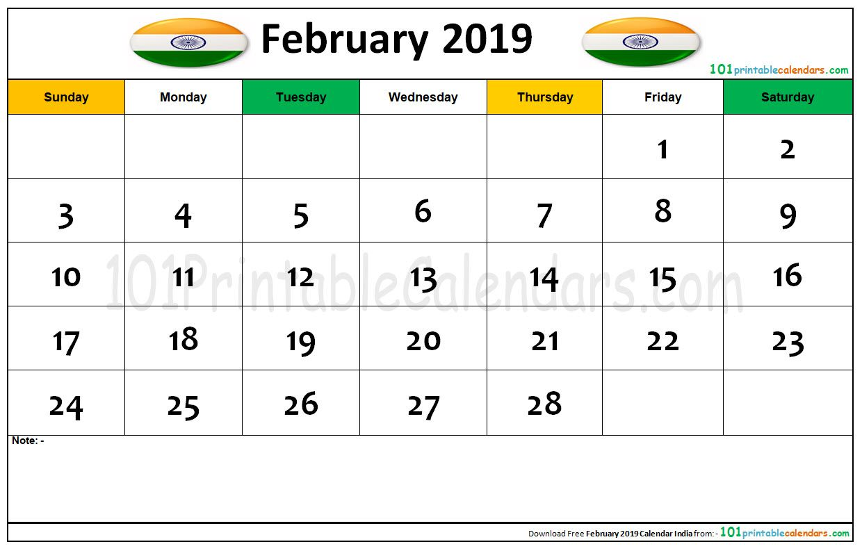 February 2019 Calendar For India February 2019 Calendar India | February Month Calendar | 2019