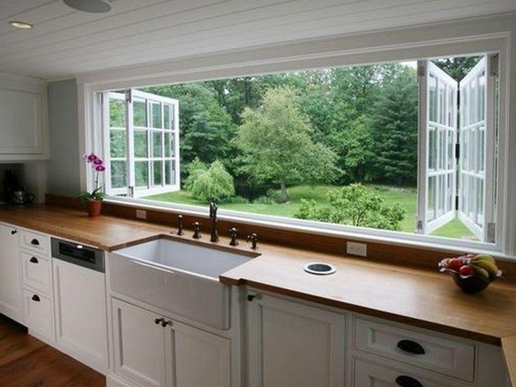 Image result for craftsman kitchen layout large window ...