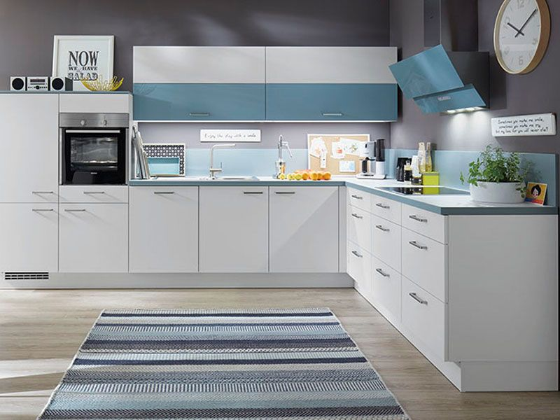Küche Fronten weiß und babyblau Möbel Mit www.moebelmit