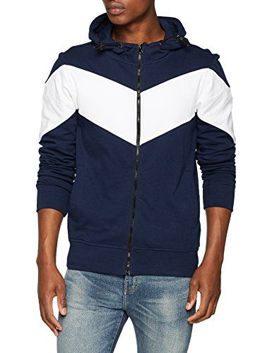New Look Chevron Zip Through, Sudadera con Capucha para Hombre