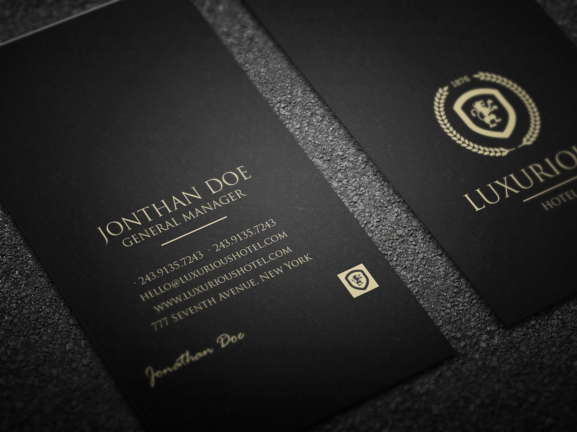 Luxurious business card | Business cards, Business and Fonts