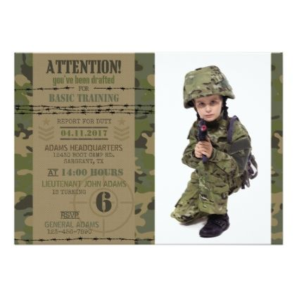 Army jungle camouflage military birthday card invitation ideas army jungle camouflage military birthday card bookmarktalkfo Choice Image