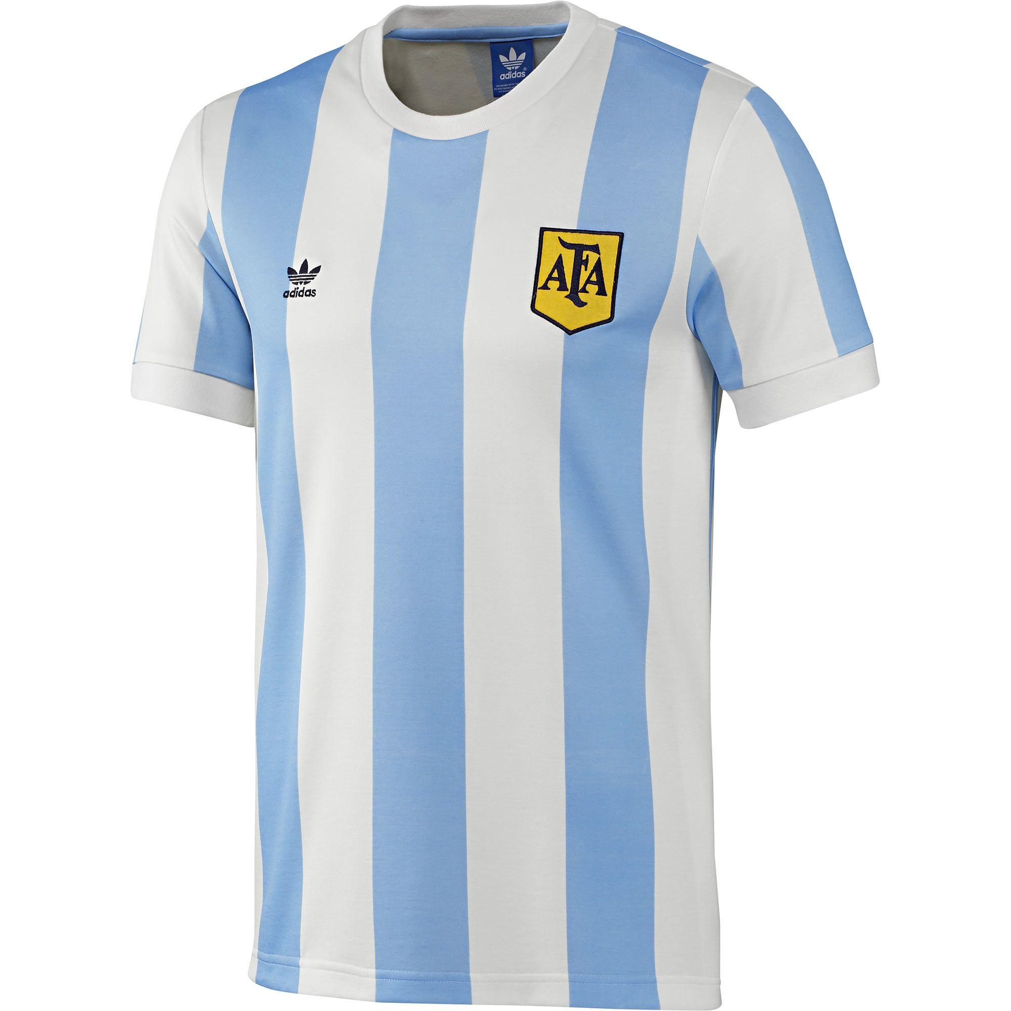 adidas Camiseta de Fútbol Retro Selección Argentina  79d3cf562aade