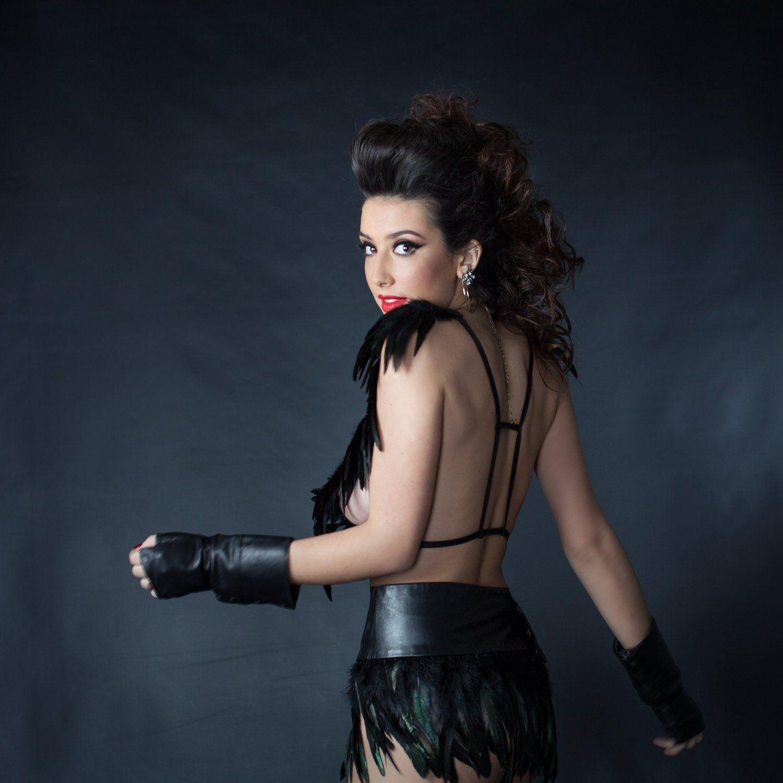 ea1191e8409 Love Khaos Black Leather Feather mini Skirt Belt boho
