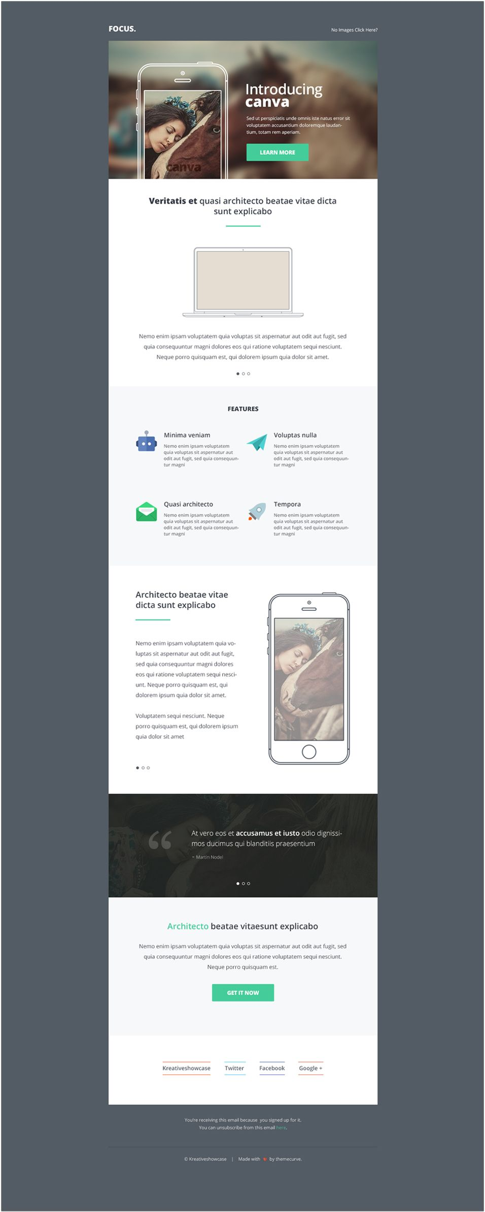 Canva Multipurpose NewsletterEmail PSD Template Emails - Email brochure template