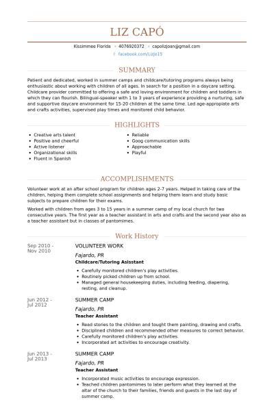 Resume Examples Volunteer Activities Resume examples