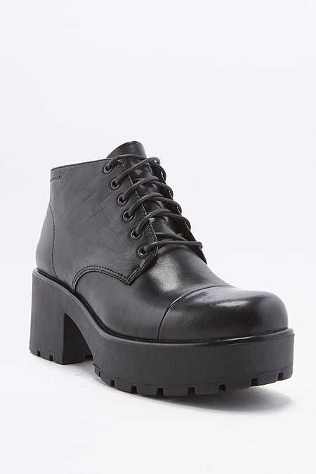 5394f667869b Vagabond Dioon Lace-Up Chunky Black Leather Ankle Boots | Shoes ...