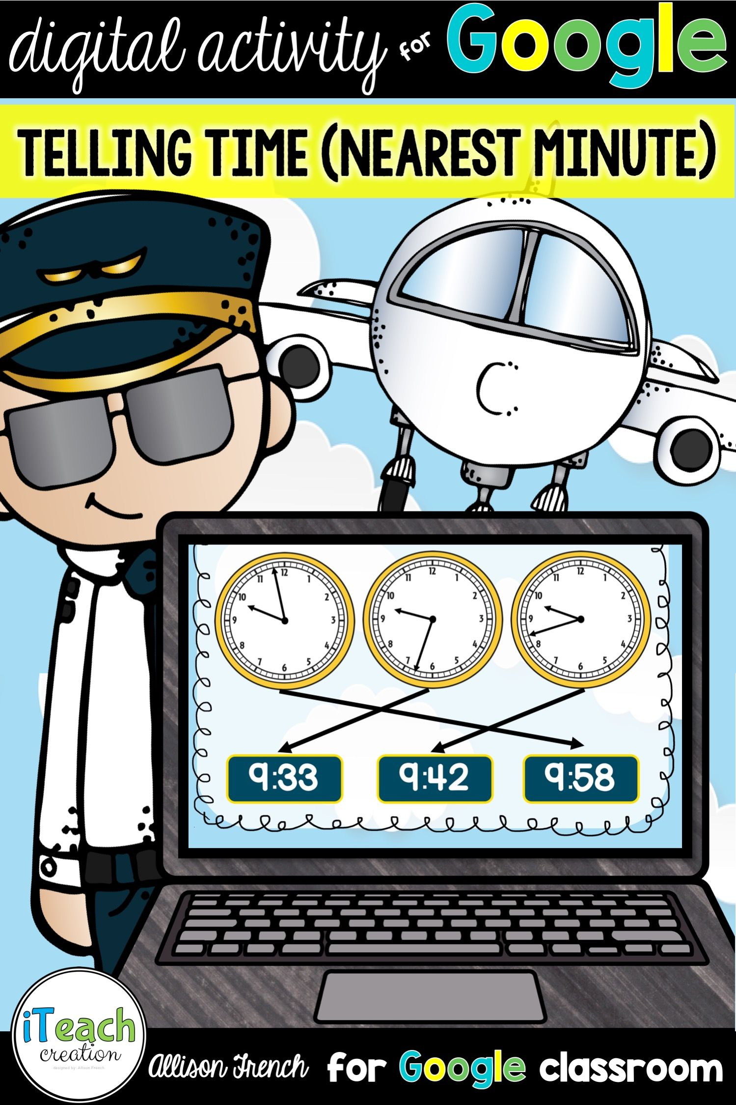 Distance Learning Telling Time To The Nearest Minute For