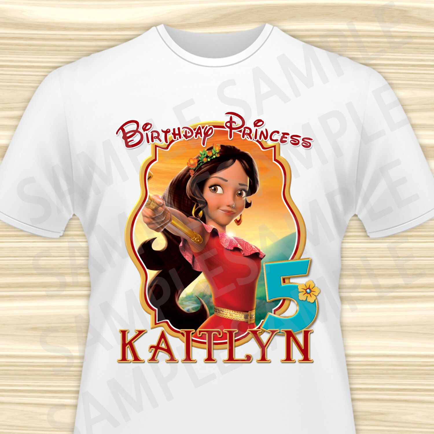 DISNEY *****PRINCESS ******ELENA OF AVALOR ********* T-SHIRT IRON ON TRANSFER