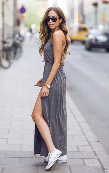 d12cb3a76bb 25 Ideas to Wear Maxi Dress Outfits - Be Modish - Be Modish
