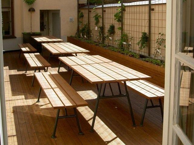 Table de jardin pliante : pratique et économique en espace ...