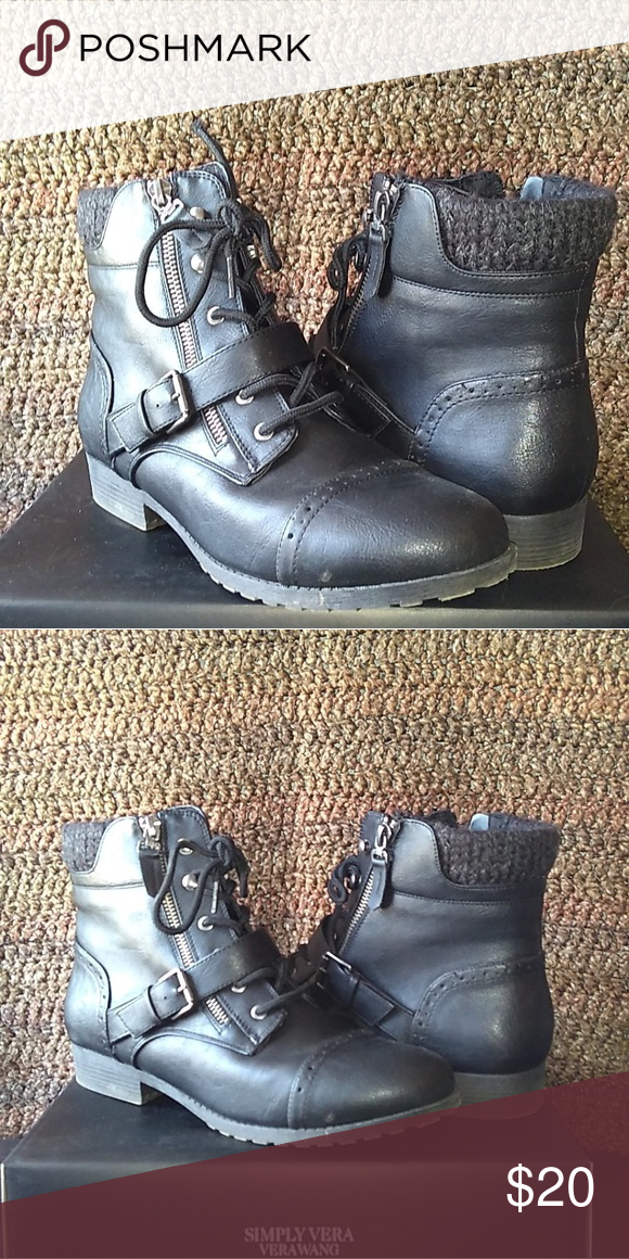 3c5a65c1eaa Womans SO boots SO Kohls Womens Boots Hackberry Black Barely worn ...