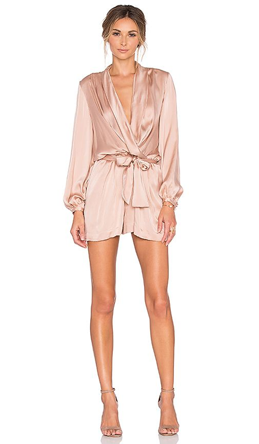 6dab195b109 Shop for Zimmermann Sueded Silk Wrap Playsuit in Peony at REVOLVE. Free 2-3  day shipping and returns