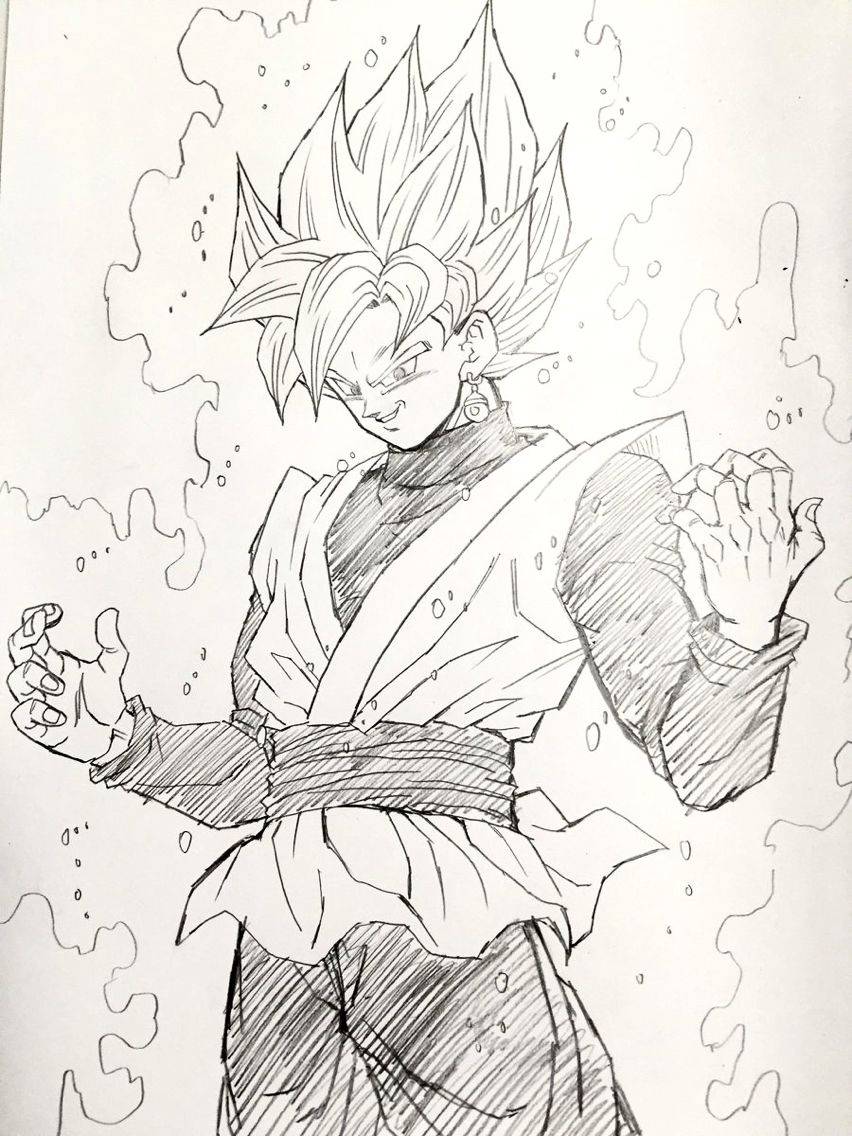 Super Saiyan Rose Black Goku Image Drawn By Young Yijii Found