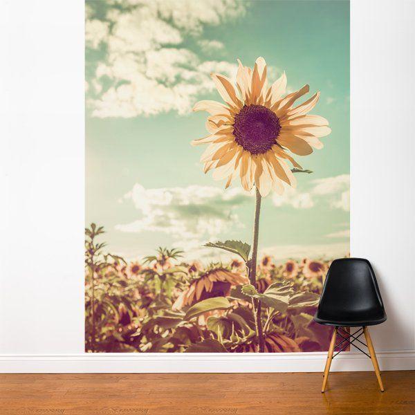 ADZif Fresk Sunflower Wall Mural Wayfair Flower mural