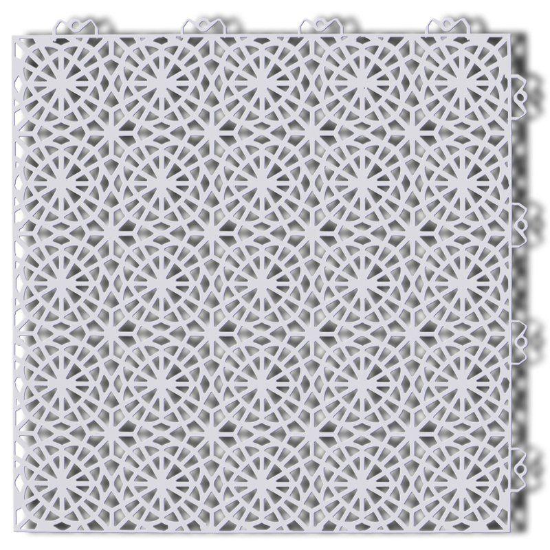 Bergo 14 8 X 14 8 Plastic Interlocking Deck Tile In Shadow Gray Interlocking Deck Tiles Deck Tiles Pvc Decking