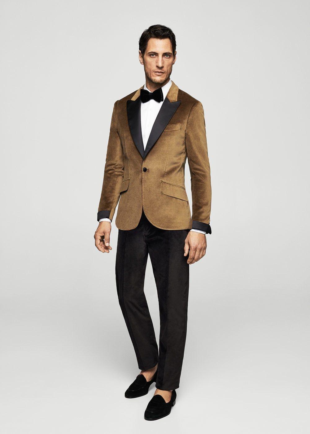Pantalón traje slim-fit terciopelo - Pantalones de Hombre in 2019 ... 17521428a6f