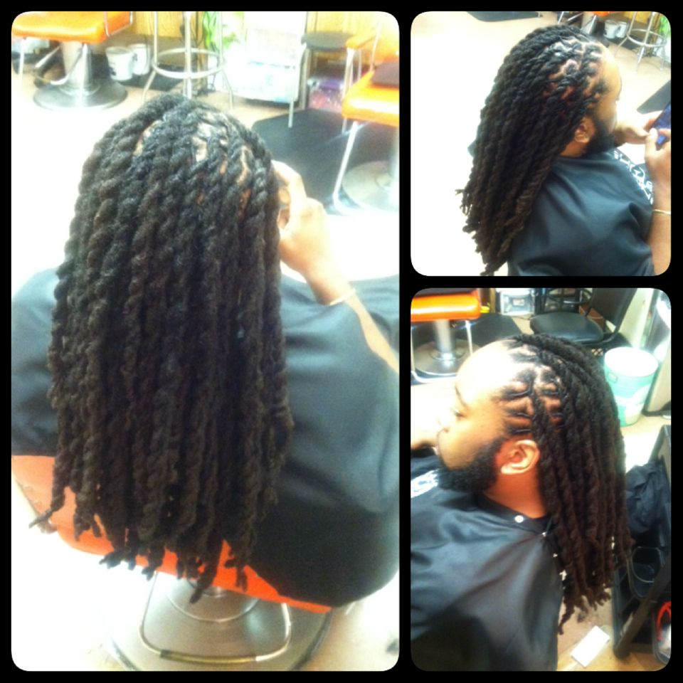 Jumbo Two Strand Twist With Locs By Me Dread Hairstyles Rave Hair Dreadlock Hairstyles
