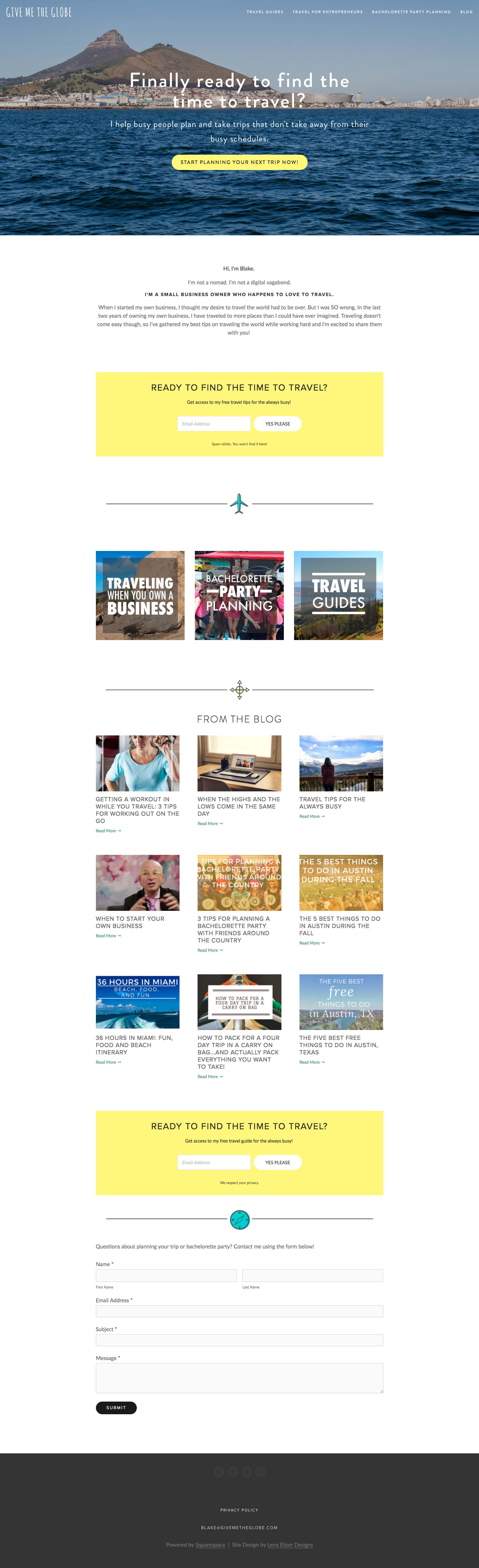 Travel Blog Small Business Website Selling Products Built On Squarespace Business Website Business Advice