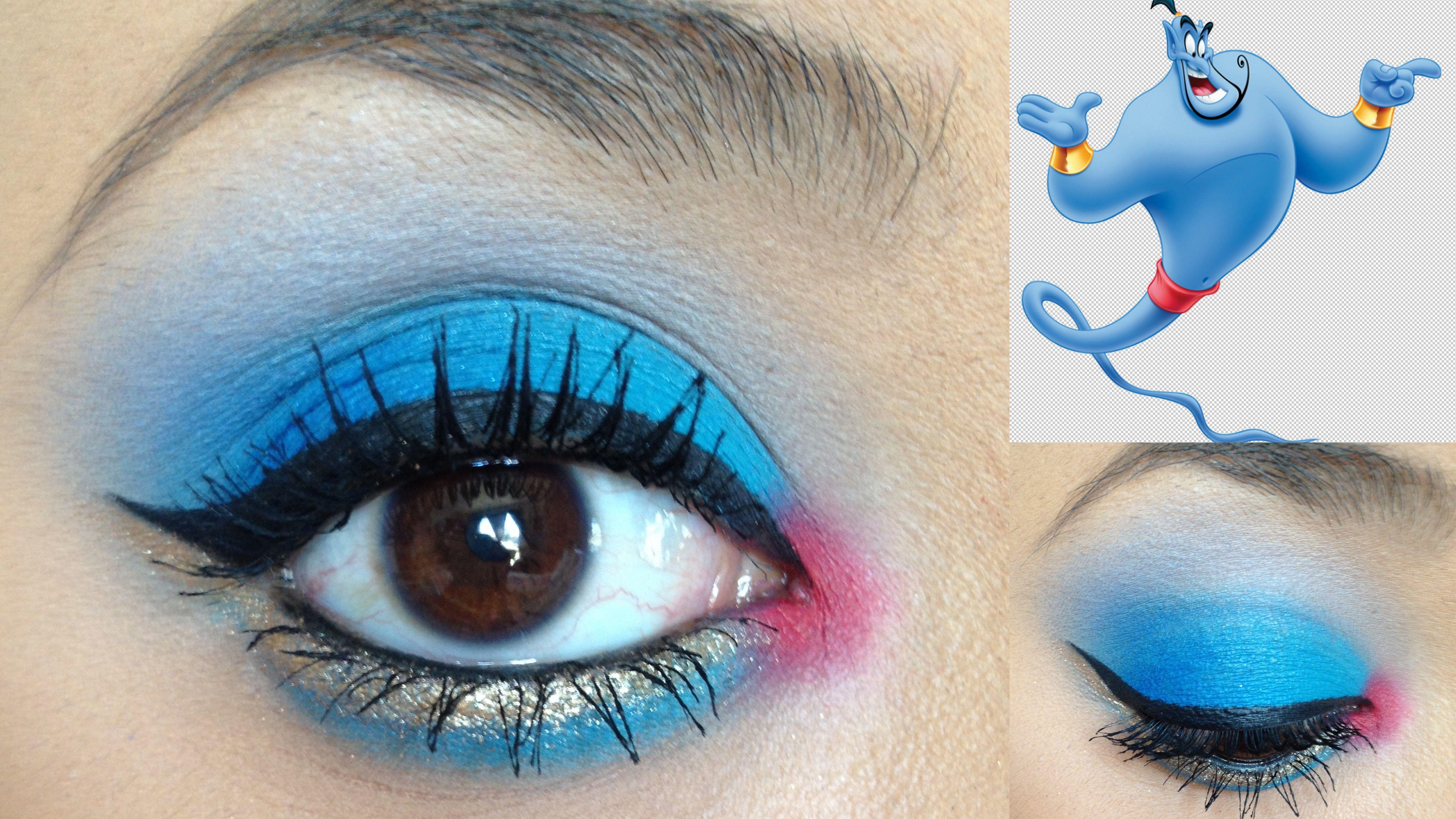 Aladdin's Genie INSPIRED Makeup