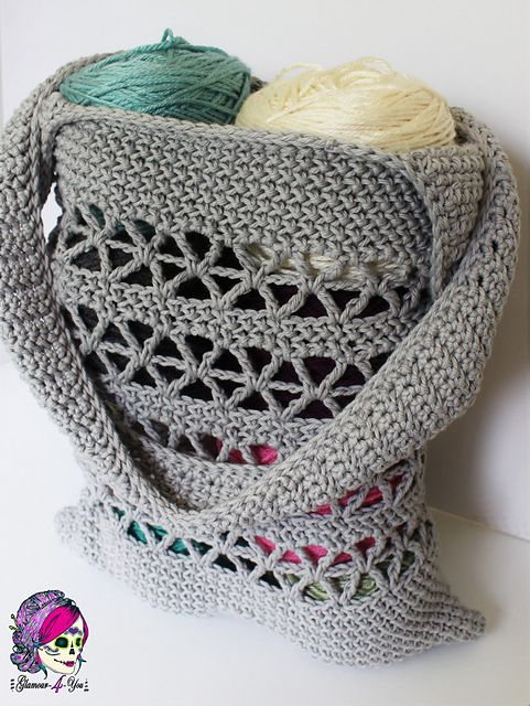 Tote your essentials in a Starlet Market Bag~free #crochet pattern ...