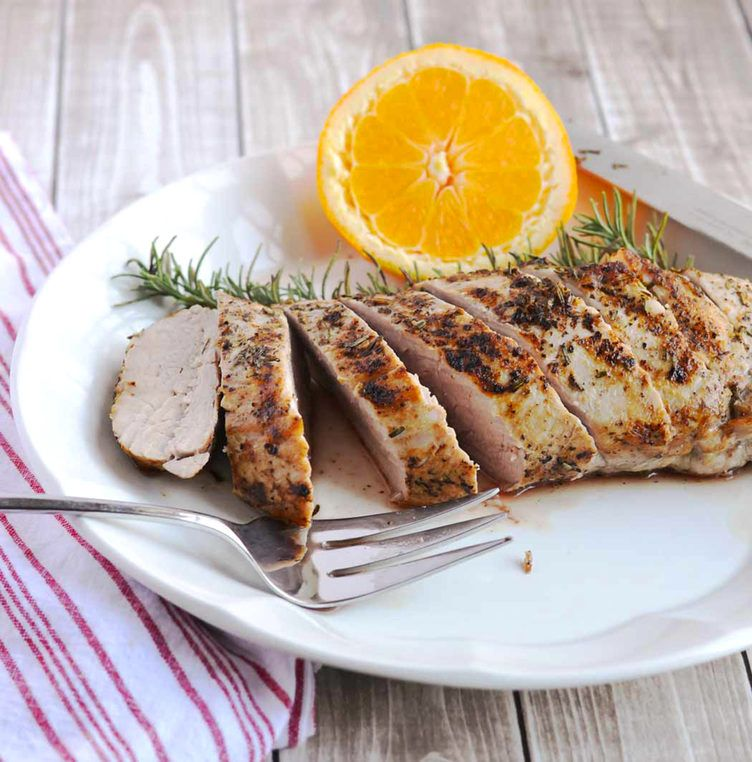 how to cook a large pork loin on the grill