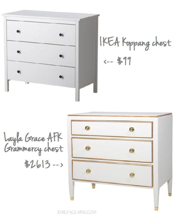 Our White & Gold IKEA Nightstand Makeover