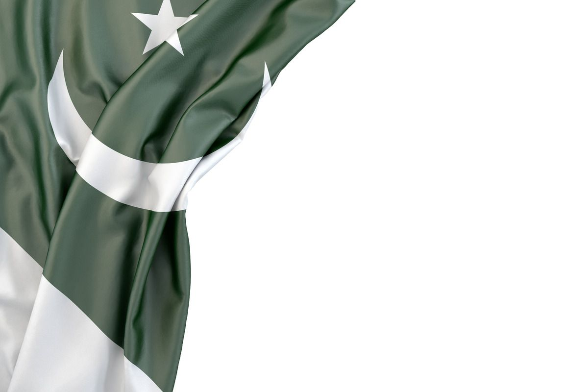 Free Stock Illustration Flag Of Pakistan In The Corner On White Background Isolated Contains Clipping Path Pakistan F Pakistan Flag Free Stock Photos Flag