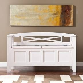 Hart Storage Bench White - Southern Enterprises : Target