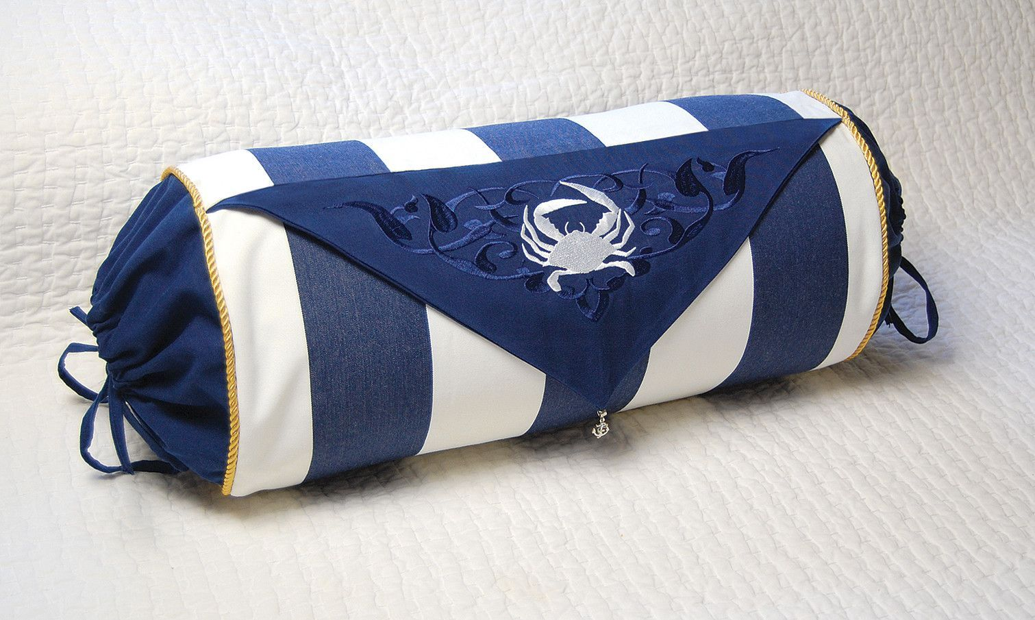 I Sea Life Fabric Outdoor Bolster Pillow