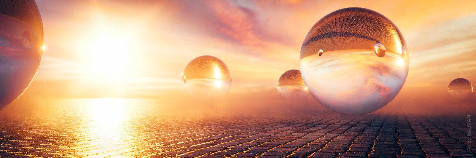 Glass Spheres, James Kalman on ArtStation at https://www.artstation.com/artwork/gB5bG