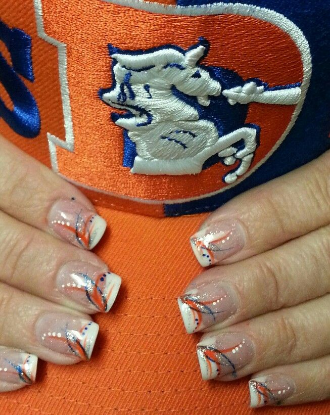 Denver Bronco's inspired nail art - Jonathan Nail & Spa - Denver Bronco's Inspired Nail Art - Jonathan Nail & Spa Denver