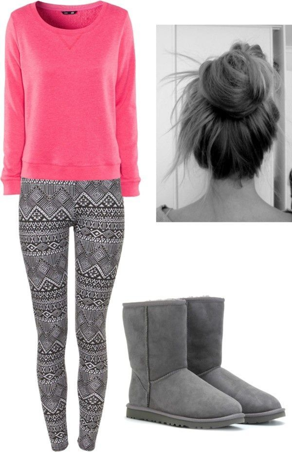 Love This Cute Lazy Day Outfit Fall Outfits Grey Uggs
