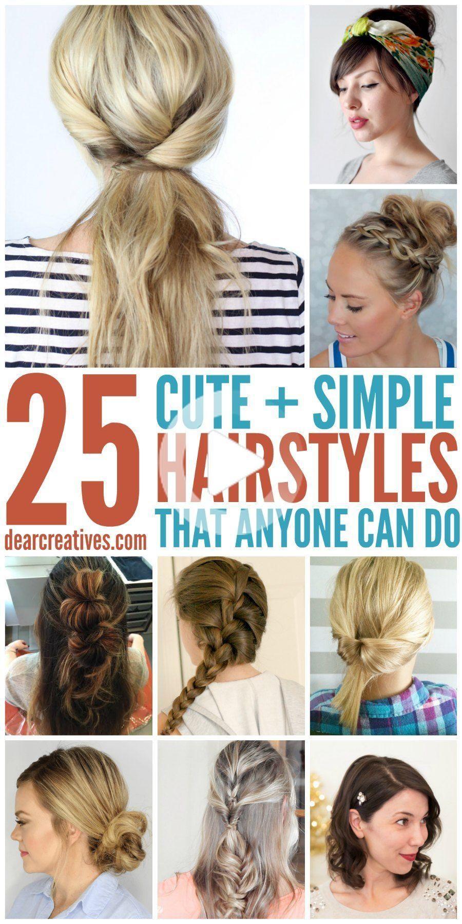 How To Do Easy Hairstyles In 2020 Easy Hairstyles Cute Simple Hairstyles Medium Hair Styles