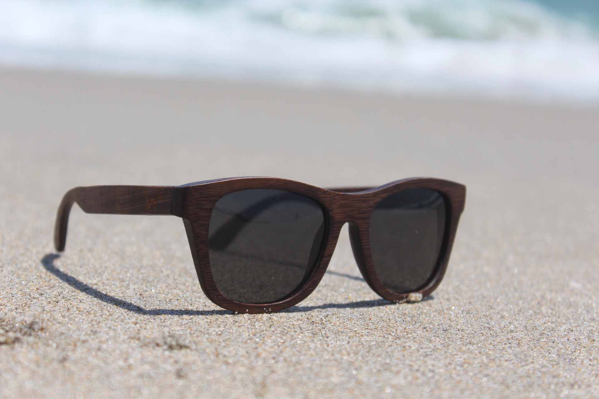8c1800ca09 100% Natural Bamboo polarized sunglasses that float in the water. Each pair  of sunglasses