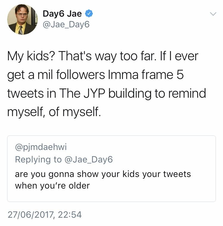 What a king. I love Day6