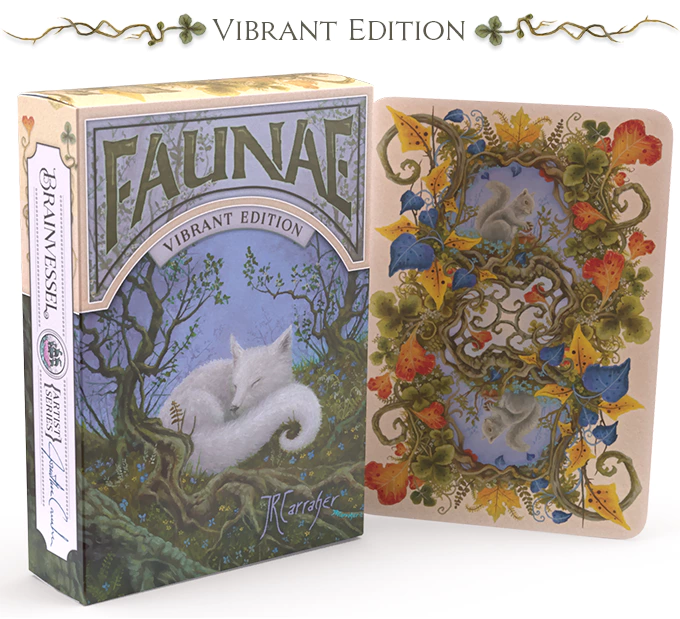 Brain Vessel Cargo Faunae Collectible Playing Cards with Oil Painting Artwork by Jon Carraher