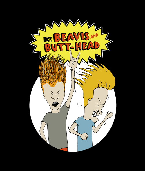 Beavis And Butthead T Shirt Mtv Size Xs S M L Xl 2xl 3xl T Shirt Painting Beavis And Butthead Shirt Retro Cartoons