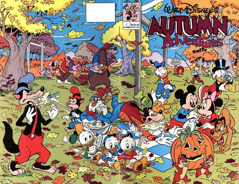 Cover for Walt Disney's Autumn Adventures (Disney, 1990 series) #1