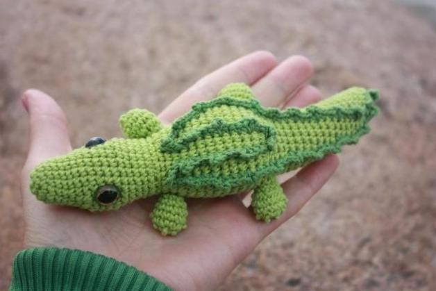 Free Crochet Crocodile Animal Patterns Amigurumi Crocodile Pattern