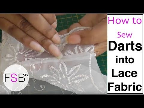 How to make a lace applique using blanket hand stitch technique