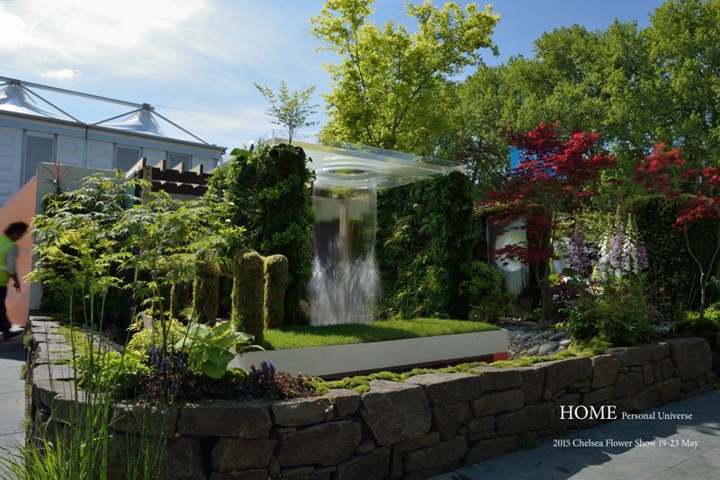 Home イギリス 窓 眺め シェード木 陰 花壇 坪庭 壁面緑化 マイホーム