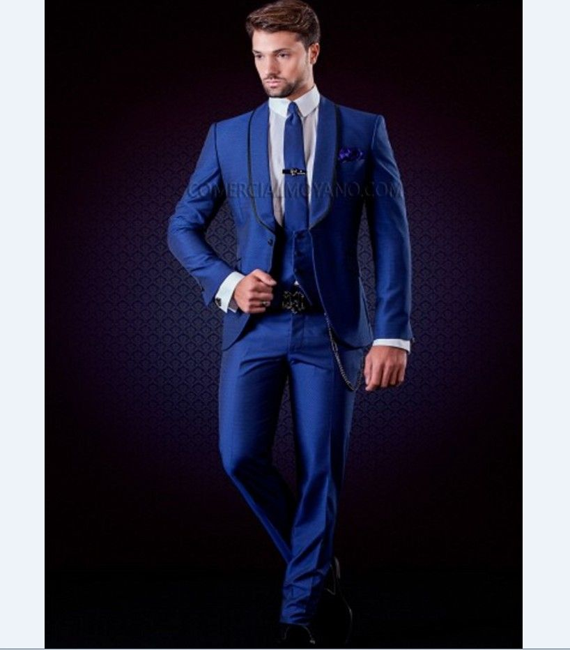 Click to Buy << Latest Coat Pant Design Italian Royal Blue Jacket ...