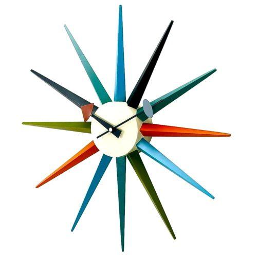 George Nelson Clocks With Images Sunburst Clock Retro Wall