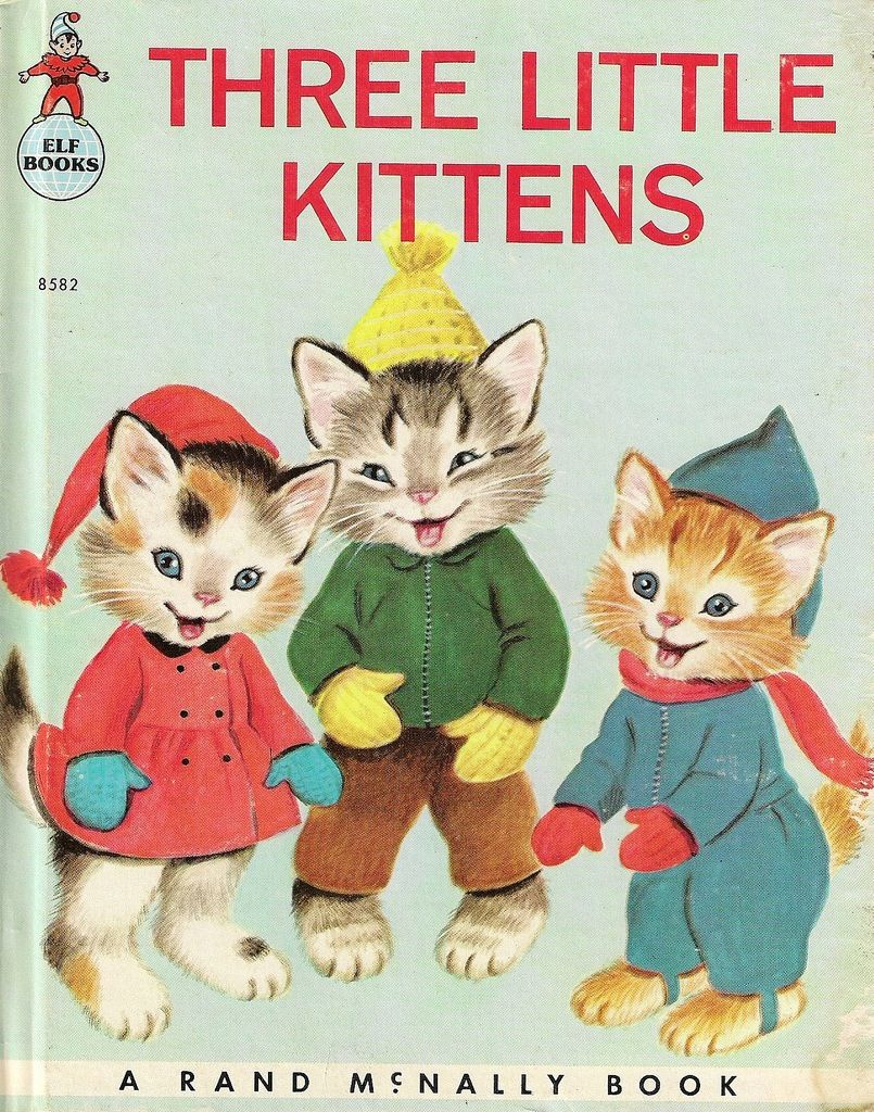 Three Little Kittens 1966 Rand Mcnally Book Vintage Children S Books Childhood Books Old Children S Books