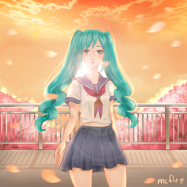 I Don T Know How It Happened With Her Hand But I Ll Post This Because I Like The Bg Don T Looks A Yandere Simulator Yandere Yandere Simulator Fan Art