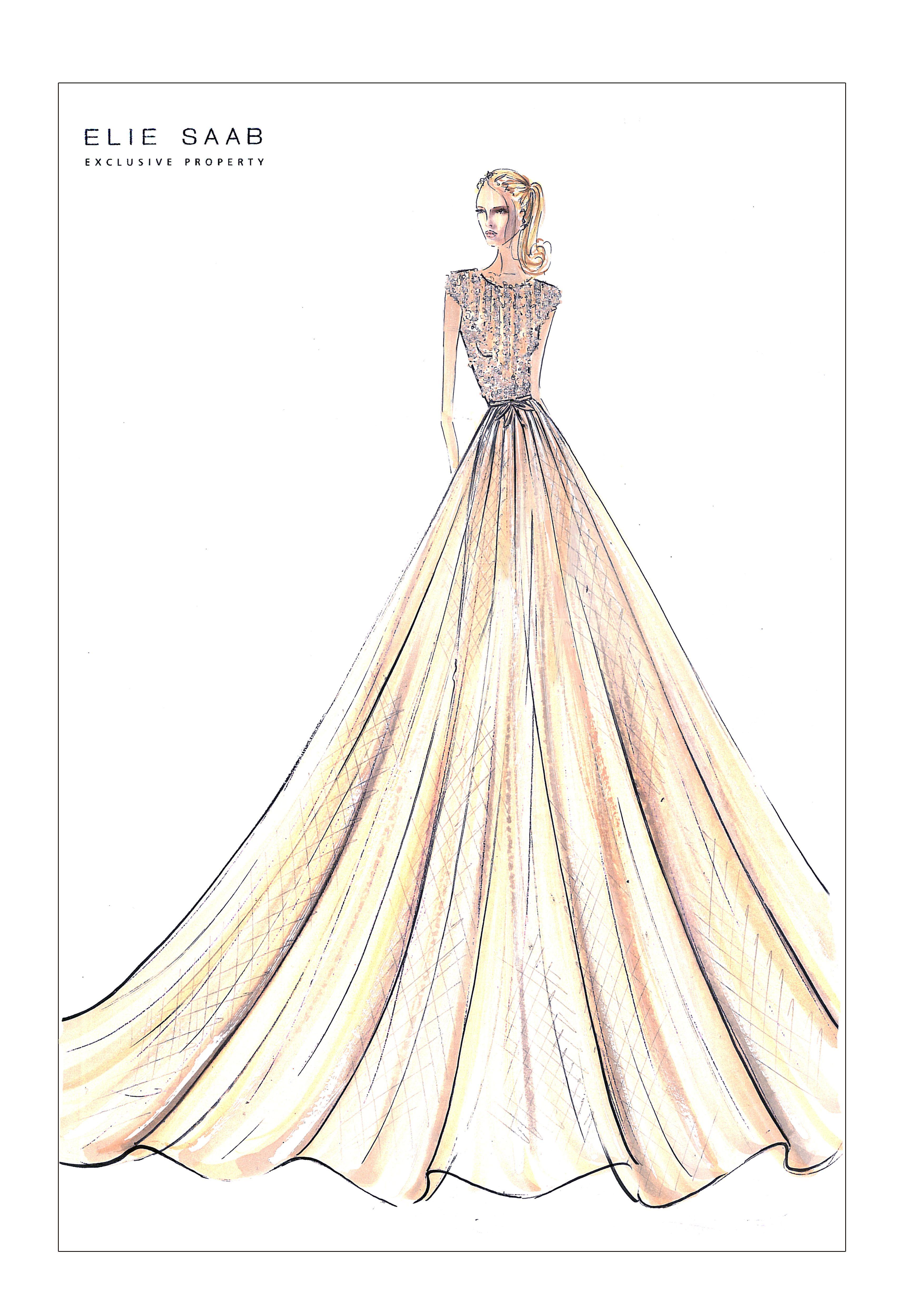 K nigliche mode bei harrods in london formalities - Kleider zeichnen ...