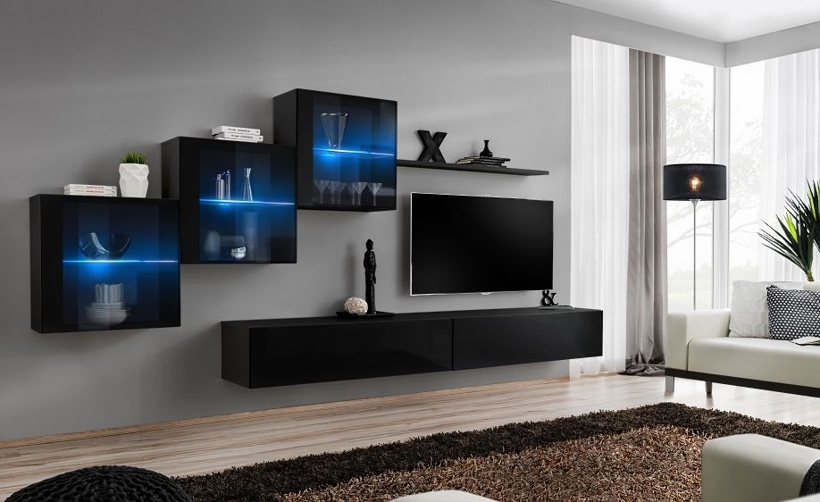 Modern Wall Units Living Room Contemporary